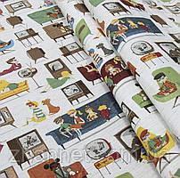 Ткань для детских штор Телевизор