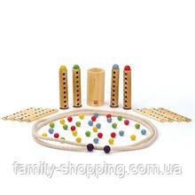 """Деревянная бамбуковая игрушка-головоломка с шариками """"Rapido"""""""