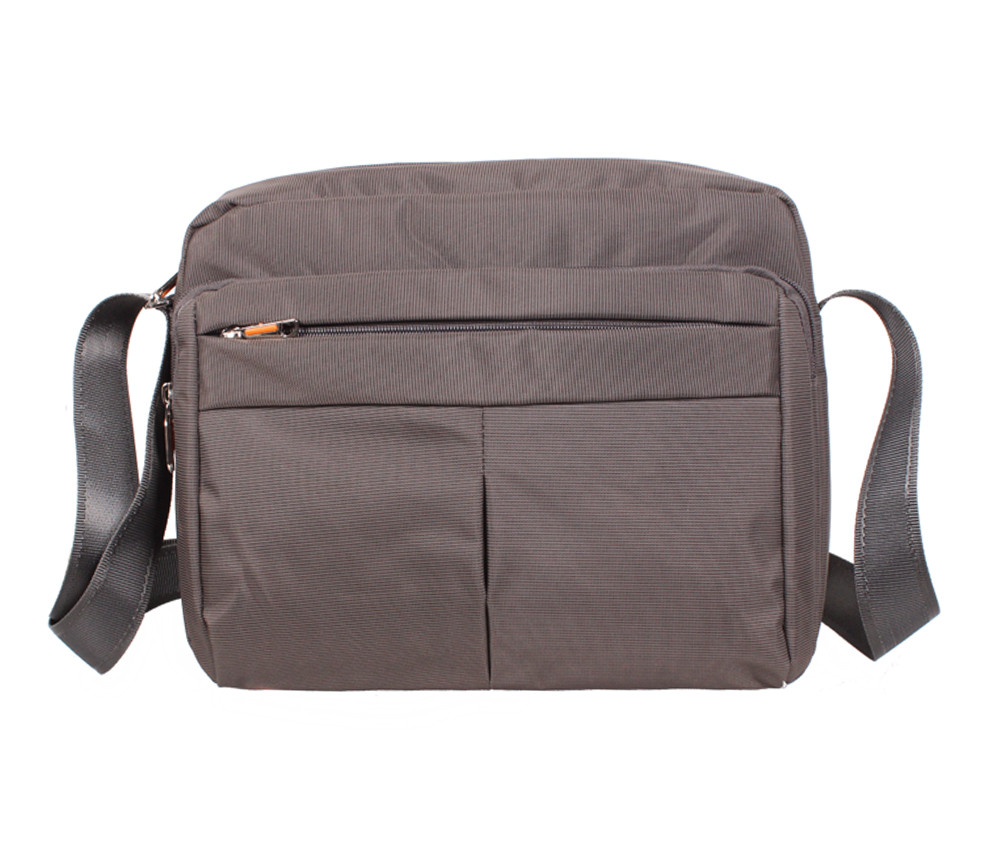 Горизонтальная тканевая сумка формата А4 Nobol XXL8310B-GREY Серая