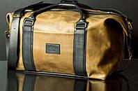 Мужская кожаная сумка ручной работы Sport&Travel DS Military, Sharky Friends, фото 1
