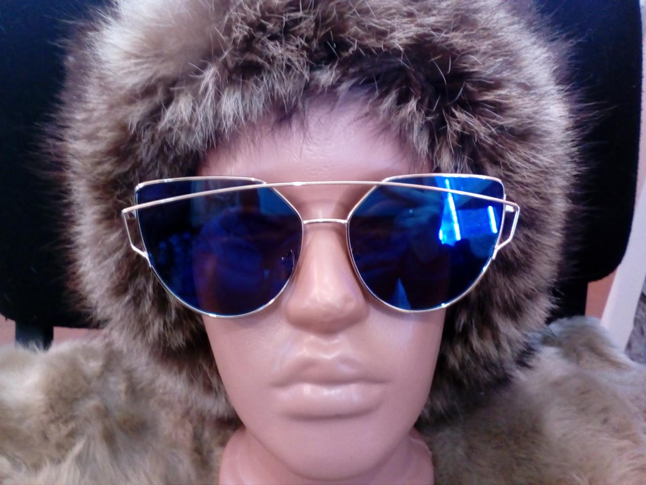 Модные зеркальные солнце-защитные очки!!