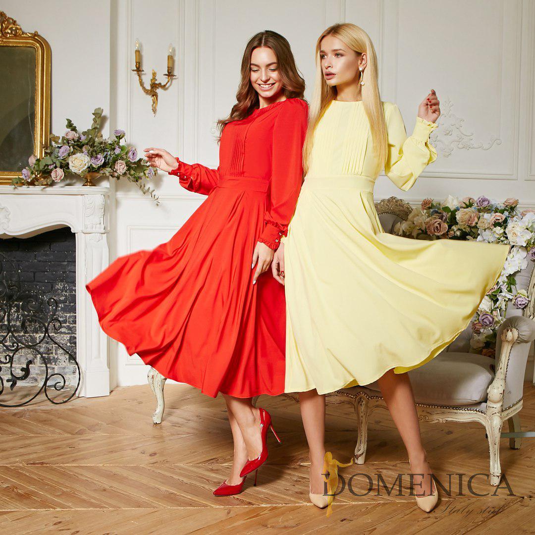 189574b1b65 Купить Летнее лёгкое платье миди с длинным рукавом tez31031266 ...