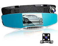 """Зеркало - видеорегистратор 5.0"""" дюймов на 2 камеры с видеопарковкой и камерой заднего вида, фото 1"""