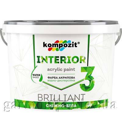 Краска интерьерная INTERIOR 3 Kompozit, 1.4 кг, фото 2