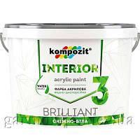 Краска интерьерная INTERIOR 3 Kompozit, 4.2 кг