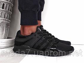 Кроссовки мужские черные Adidas EQT Back сетка реплика, фото 2