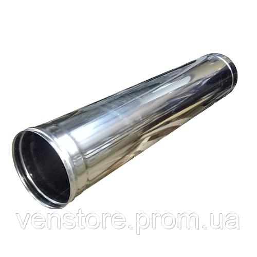 Труба дымоходная Ø150 1м 0,5мм из нержавеющей стали