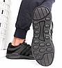 Кроссовки мужские черные Adidas EQT Back сетка реплика, фото 4