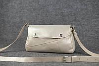 Кожаная женская сумка Kiki | Шампань Перламутр