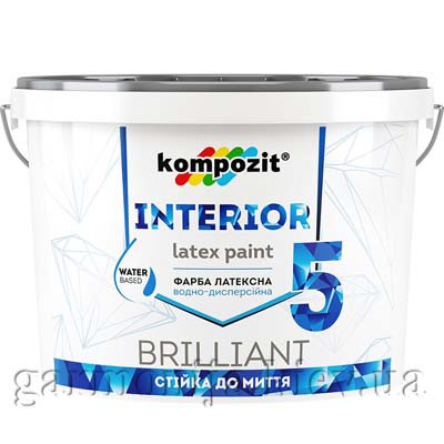 Краска интерьерная INTERIOR 5 Kompozit, 7 кг