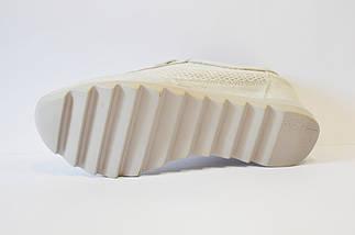 Кроссовки на танкетке светло-серебристые Allshoes, фото 3