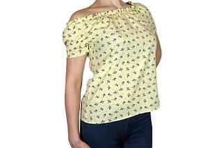 Женская блузка с коротким рукавом и сборкой (AT512/3) | 3 шт.