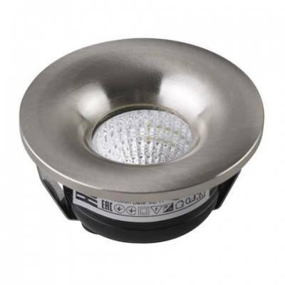 Светильник встраиваемый 3W 4200К белый, мат.хром Horoz
