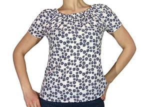 Женская блузка с коротким рукавом и сборкой (AT512/4) | 3 шт.