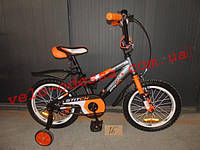Детский двухколесный велосипед стича stitch  премиум 12 дюймов+ручка