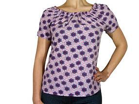 Женская блузка с коротким рукавом и сборкой (AT512/8) | 3 шт.