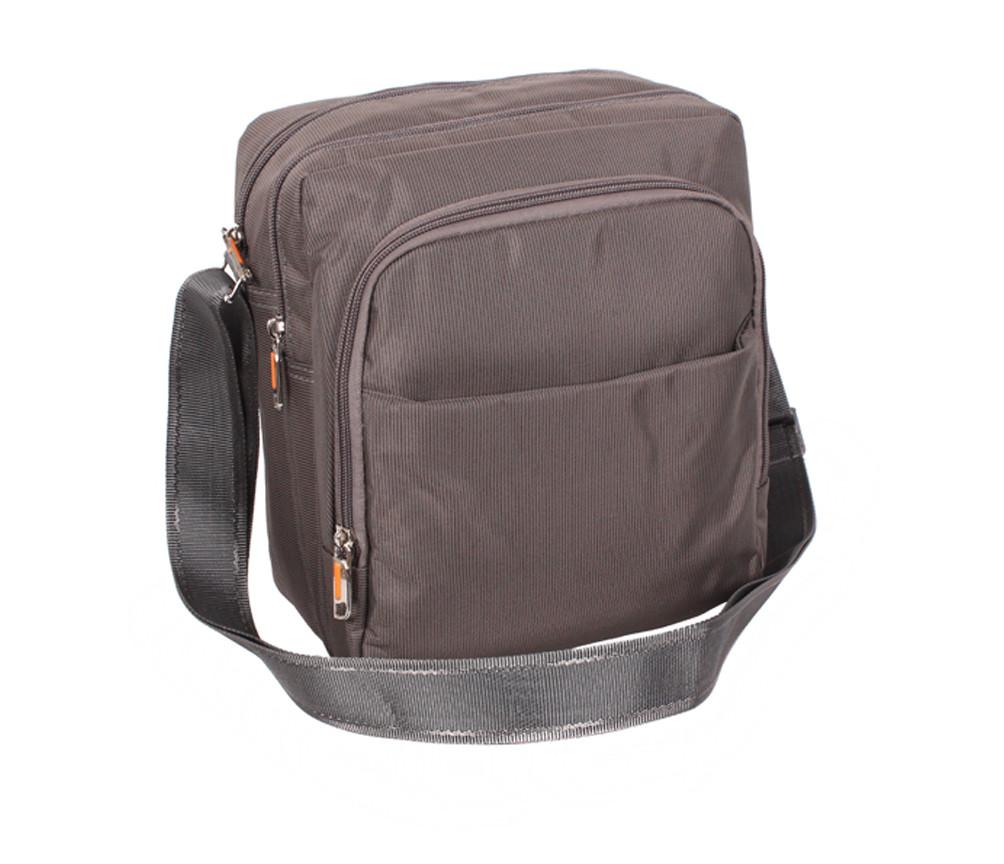 Прочная мужская сумка через плечо Nobol XL7337GREY Серая