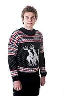 Прикольный мужской свитер с оленями