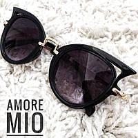 Женские стильные солнцезащитные очки в пластиковой оправе tez36163