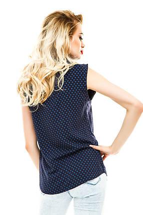 Блузка 262 синяя размер 42, фото 2