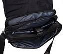 Стильная сумка из прочного текстиля Nobol XXL8311B-BLACK Черная, фото 6