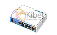 Роутер Mikrotik hAP ac lite (RB952UI-5ac2nD), Wi-Fi 802.11a/b/g/n/ac, 2.4/5GHz, 5x10/100 Mb/s, USB2.0 x 1