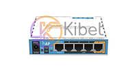 Роутер MikroTik RouterBOARD RB951Ui-2nD (hAP), White, WiFi (2.4GHz до 300 MB/s), 4xLan (1xPoE)/ 1xWan / 1xUSB2.0, 2 всенаправленные встр. антенны, 113