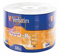 Диск DVD-R 50 Verbatim, 4.7Gb, 16x, Wrap (43788)