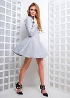 Короткое приталенное платье с чокером, фото 1
