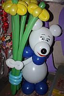 Мишка из воздушных шаров , фото 1