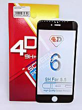 Защитное стекло 4D iPhone 6 Plus Black