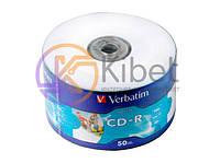 Диск CD-R 50 Verbatim, 700Mb, 52x, Extra, Printable, Wrap Box (43794)