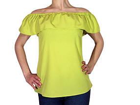 Женская блузка с воланом (AT513/Light Green) | 3 шт.