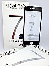 Защитное стекло 4D iPhone 7/8 Black