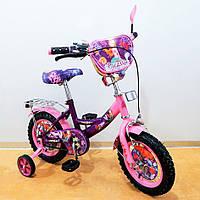 Детский двухколесный велосипед Tilly Русалка 12 дюймов T-21227 KK