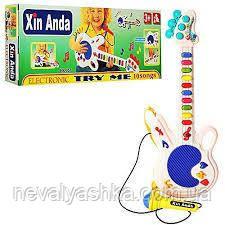 Музыкальная Детская Гитара микрофон музыкальный светится, 957, 005036