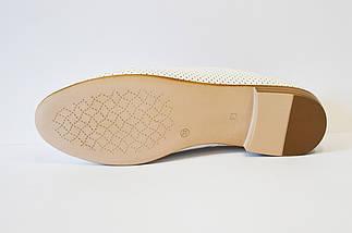 Балетки кожаные белые Estamod 1813, фото 3