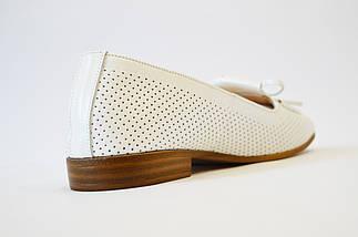 Балетки кожаные белые Estamod 1813, фото 2
