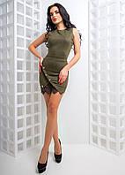 Облегающее платье мини с запахом на юбке, фото 1