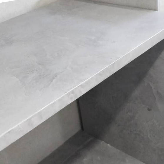 Микроцемент в интерьере кухни