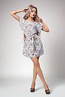 Летнее женское платье с тюльпанами