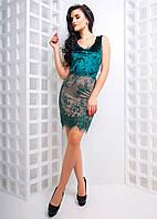 Облегающее платье с кружевным низом , фото 1