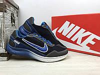 Мужские кроссовки  Nike (синие с голубым), ТОП-реплика, фото 1