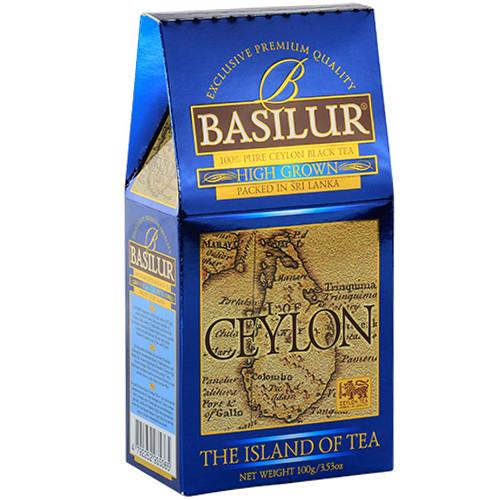 Черный чай Basilur Высокогорный коллекция Чайный остров Цейлон картон 100г