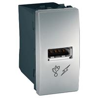 Розетка USB 1-мод. Алюминий Unica Schneider, MGU3.428.30
