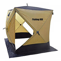 Зимняя палатка Куб-2/3 CYCLONE для рыбалки зонтичного типа 180*180*205 см