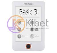 Электронная книга 6' PocketBOOK 614 Basic 3 White (PB614-2-D-CIS) E-Ink Pearl, 800x600, 166 dpi, 4 ГБ, microSD, 1 ГГц, 256 МБ, 1300 мАч