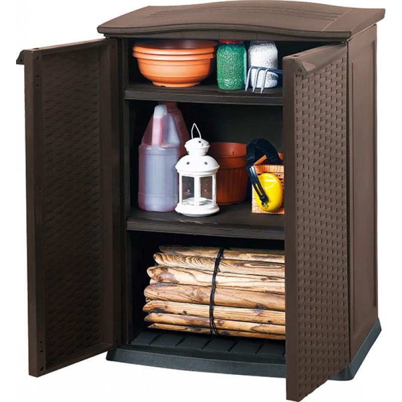 Шкаф стилизован под ротанг Keter Base Utility Shed Brown