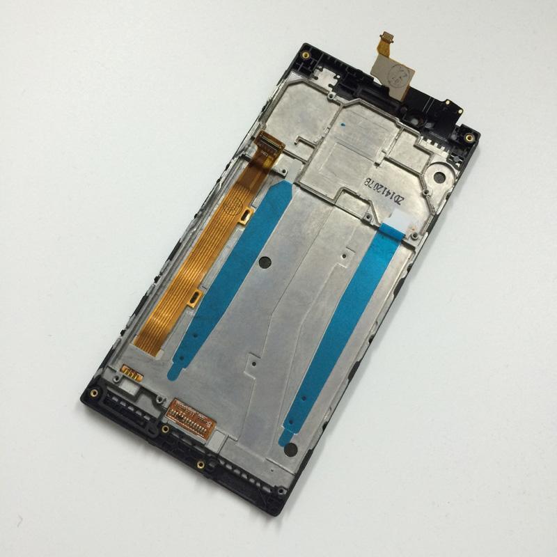 Дисплей модуль Lenovo P70  в зборі з тачскріном чорний з рамкою