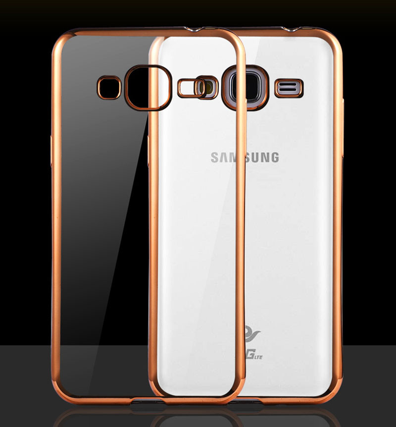 Чехол Frame для Samsung J5 2015 / J500H / J500 / J500F Бампер силиконовый Gold